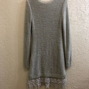 Venus Lace Hem Sweater Dress
